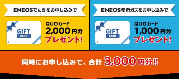 同時にお申し込みで、合計2000円分!